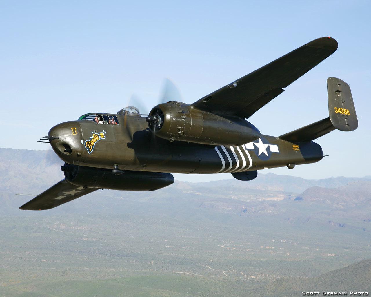 Обои b-25j, двухмоторный, американский, North american, средний. Авиация foto 18