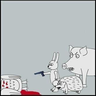 Свинья в гандоне рисунок