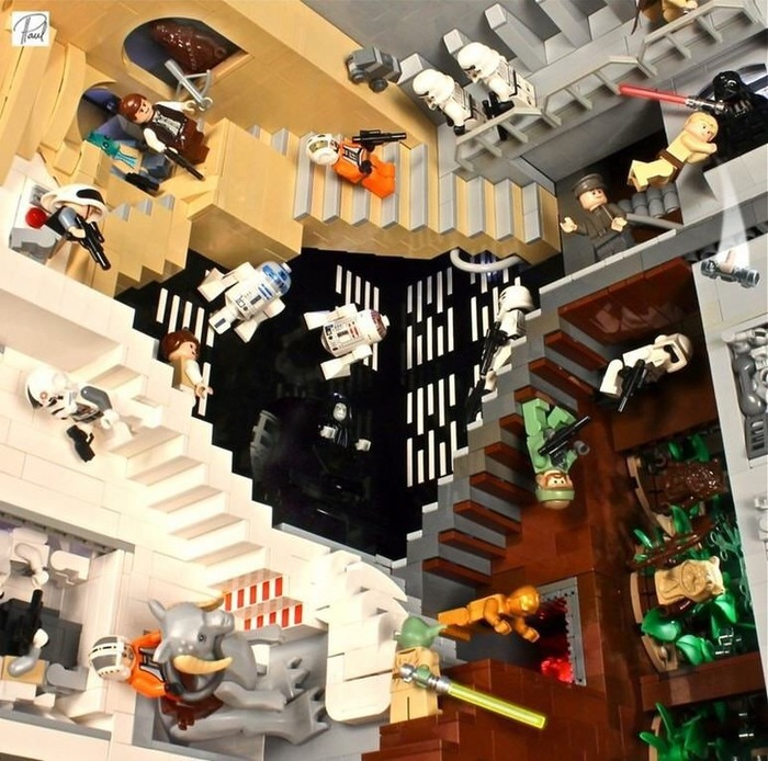 Lego Star Wars и лестница Эшера