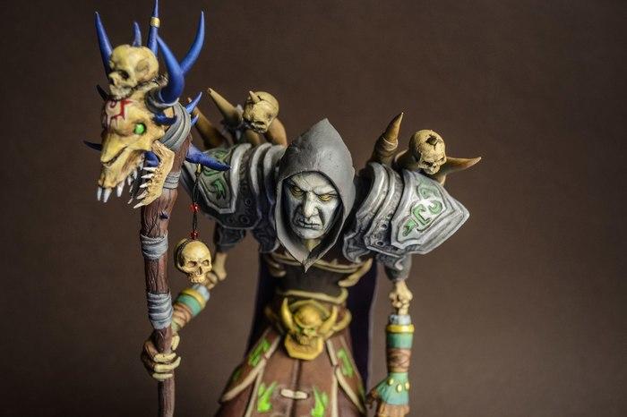 Нежить Чернокнижник (World of Warcraft) Wow, Blizzard, Sculpture, Творчество, Полимерная глина, Polymer clay, Фигурка, Нежить, Длиннопост