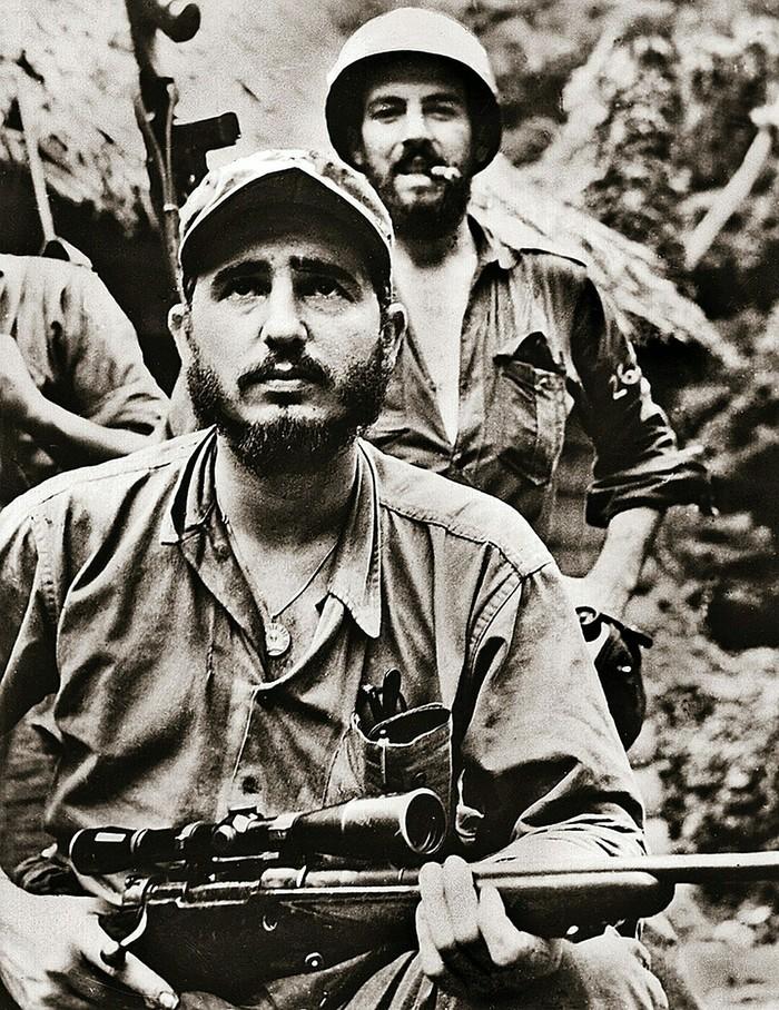 Фидель Кастро со своим телохранителем Фидель Кастро, Ретро, Куба, История