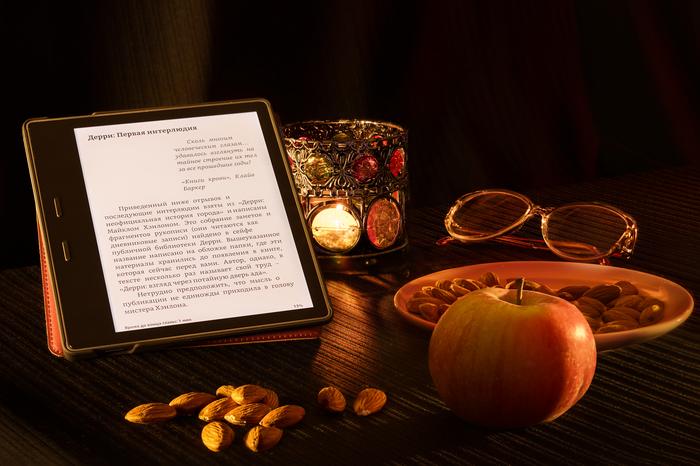 Вечер с книгой Фотография, Натюрморт, Электронные книги, Amazon Kindle Oasis, Пятничный тег моё