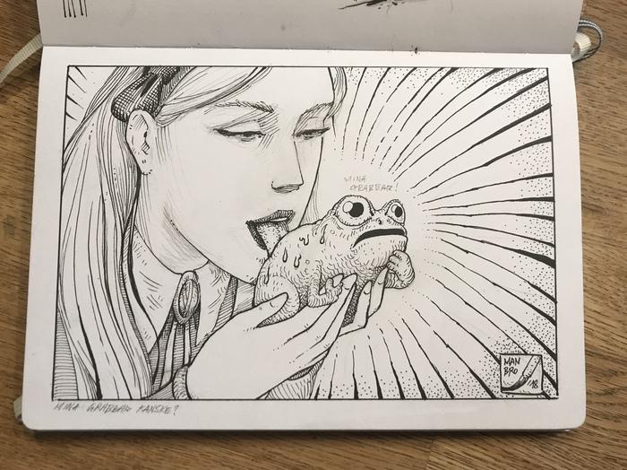 Тот момент, когда не надо душить жабу Рисунок, Странности, Странный рисунок, Алиса в стране чудес, Жаба, Что происходит?