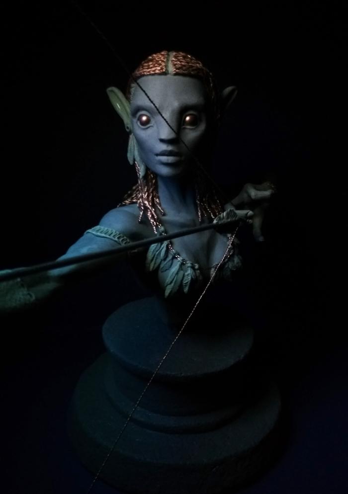 Neytiri | Avatar Моё, Скульптура, Ручная работа, Рукоделие без процесса, Полимерная глина, Аватар, Neytiri, Длиннопост