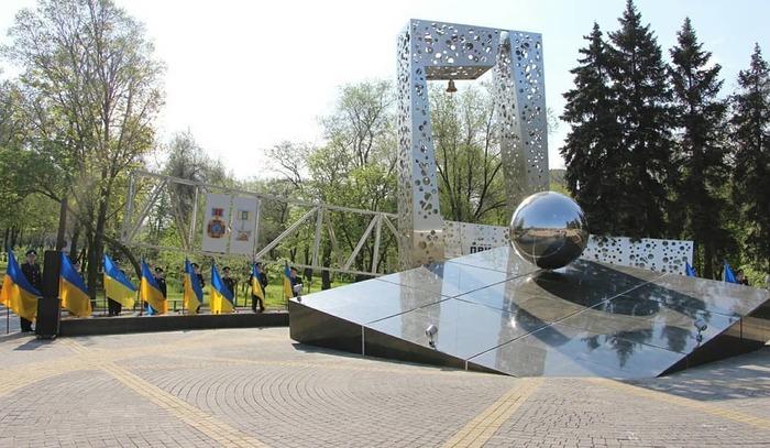 В Запорожье открыли памятник ликвидаторам аварии на ЧАЭС Запорожье, Чернобыль, Памятник, Видео, Длиннопост, Украина