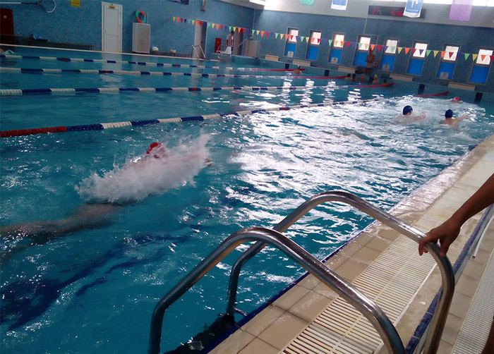 Первый этап Спартакиады молодежи допризывного возраста по спортивной подготовке Молодежь, Допризывники, Плавание