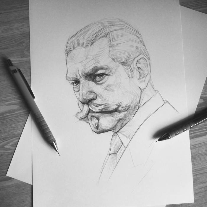 Эркюль. Портрет карандашом.