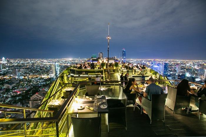 Ресторан на крыше с видом на Бангкок Таиланд, Бангкок, Фотография, Лучшее, Необычное, Ресторан, Длиннопост
