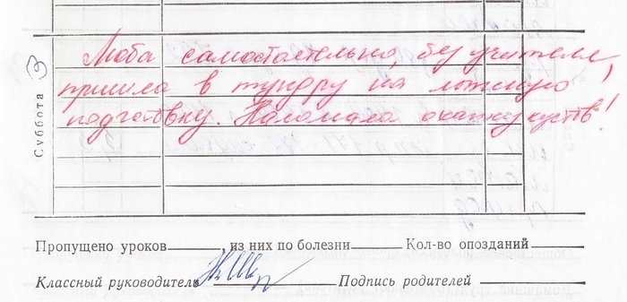 бланк школьного дневника