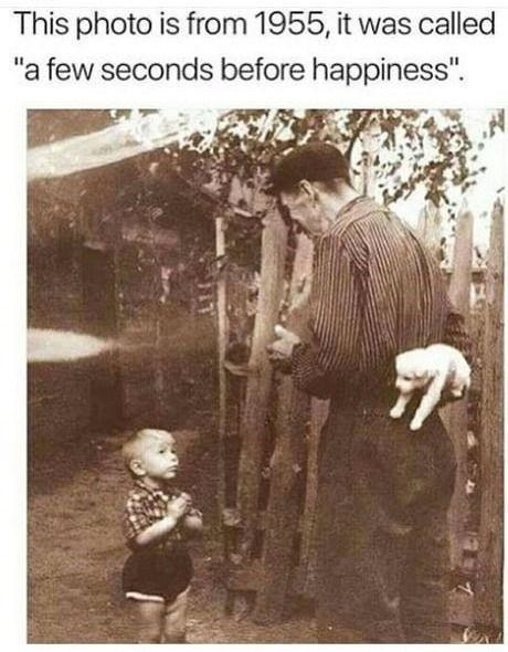 """""""Эта фотография сделана в 1955, её назвали <За пару секунд  до счастья>"""""""