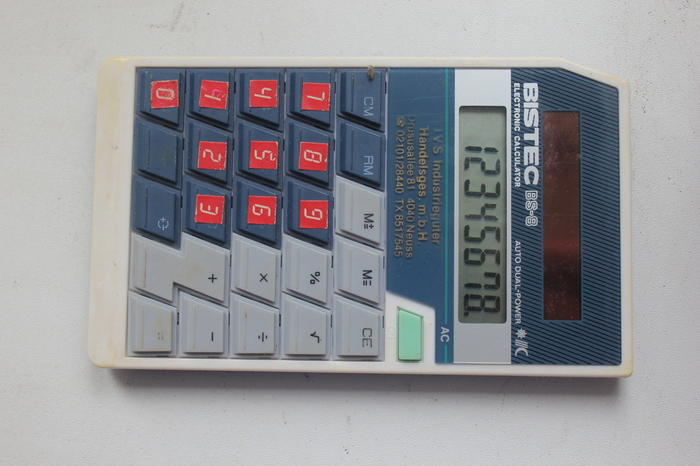 Старый калькулятор. калькулятор, солнечная панель, батарейка, жизнь, быт, история, 90-е