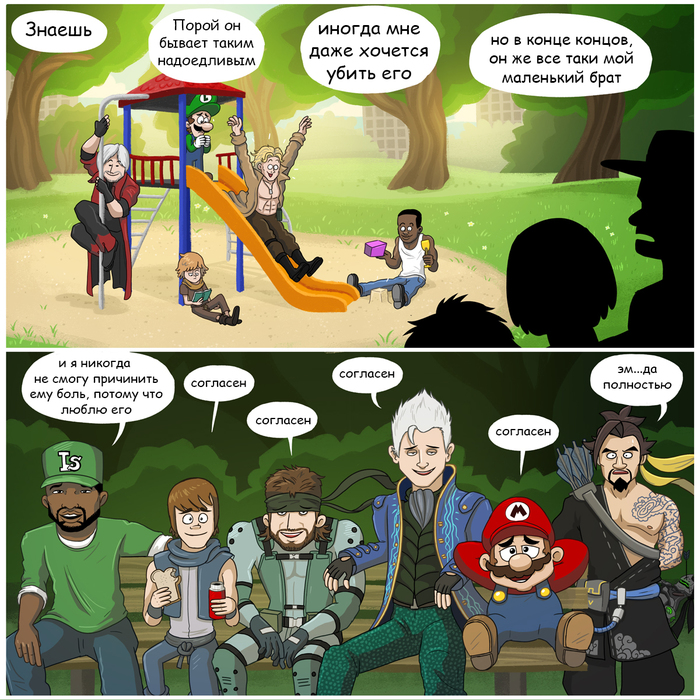 Лук и Стрелы важнее брата Woodenplankstudios, Gta: San Andreas, Brothers, Metal Gear Solid, Devil may cry, Super Mario, Overwatch
