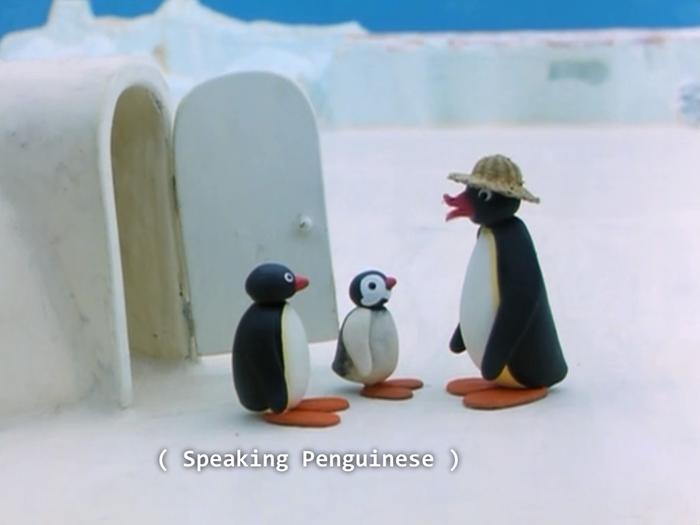 Говорят на Пингвиняйском...