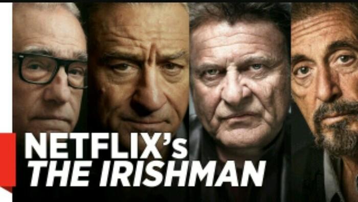 В Предстоящем фильме Мартина Скорсезе «Ирландец»(The Irishman), будет почти 300 сцен. Мартин Скорсезе, Джо Пеши, Аль Пачино, Роберт Де Ниро, Netflix