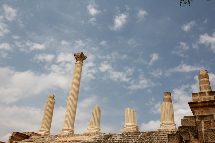Колонны капитолия древнего города Утина. Фотография, Фотограф, Путешествия