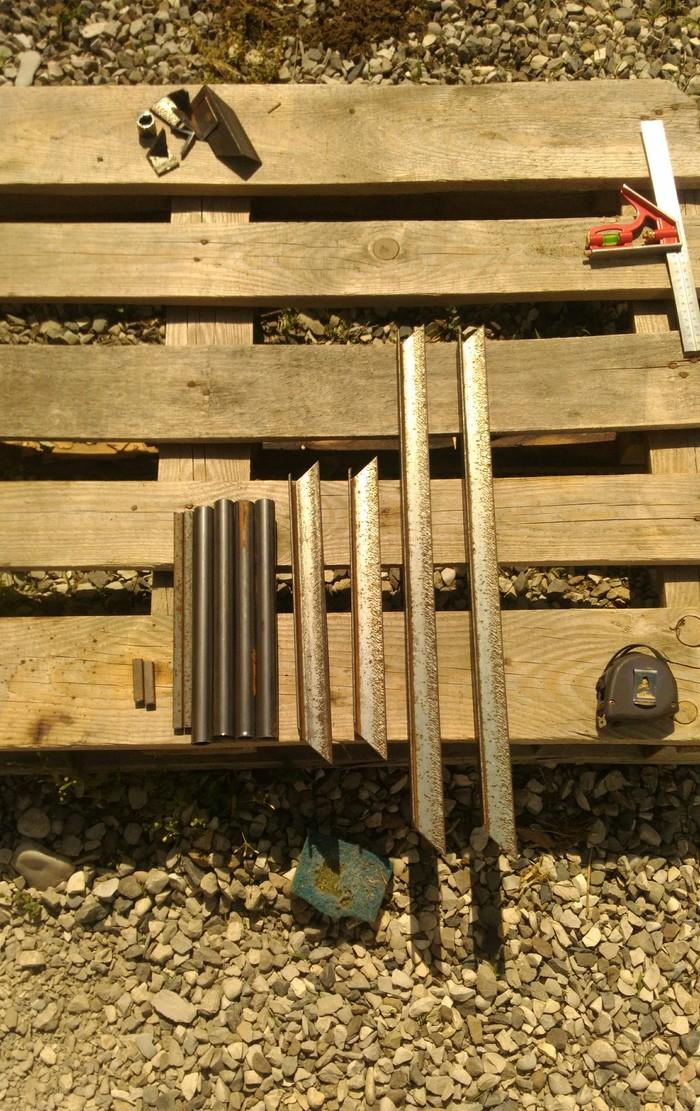Складной столик для пикника (из обрезков). Своими руками, Складной стол, Длиннопост