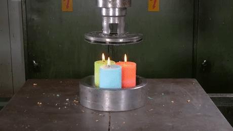 Гидропресс и свечи