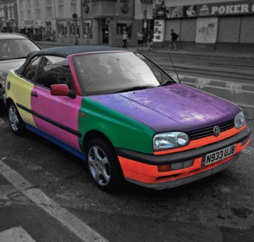 Фольксваген-хамелеон Машина, Гифка, Volkswagen, Залипалка, Photoshop