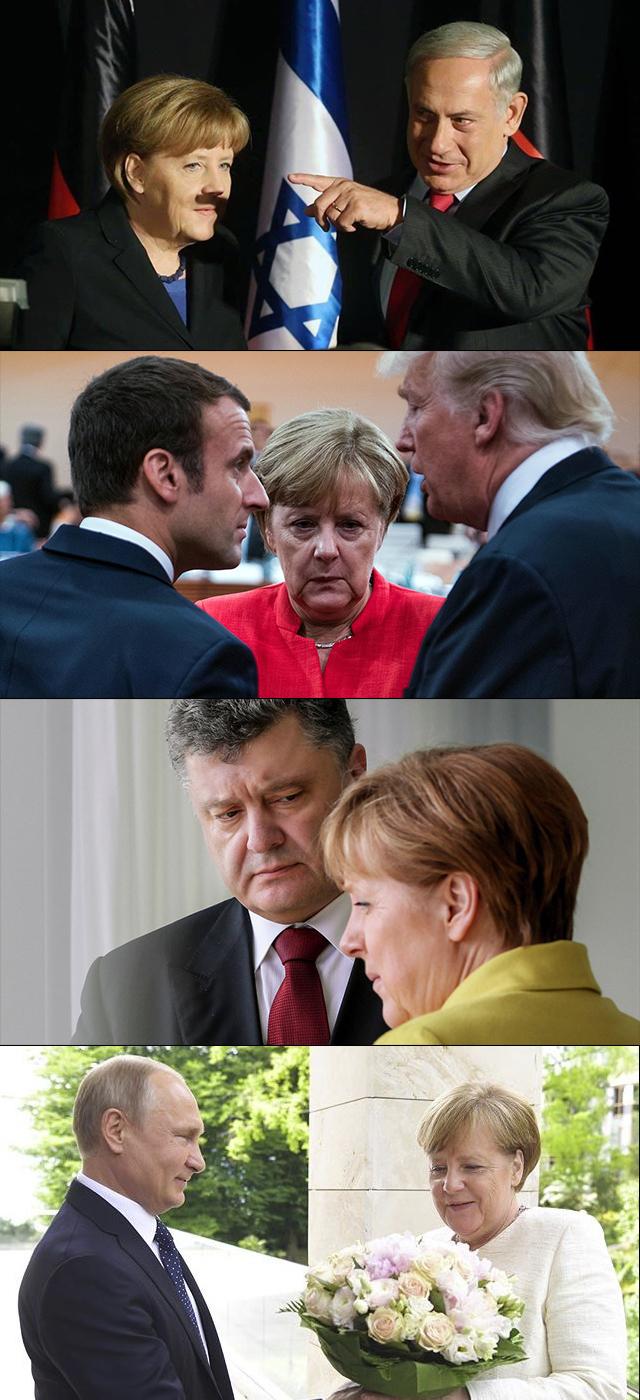 Безслов Меркель, Путин, Политики