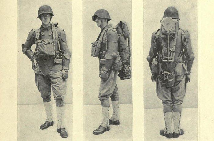 Проектная экипировка для штурмовых групп армии США (1917), представленная доктором Фордом Баш Дином