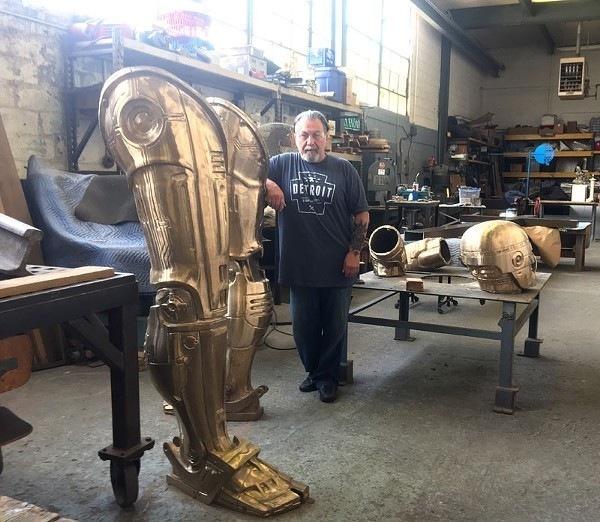 Robo в городе Робокоп, Статуя, Детройт, Научный центр Мичигана, Kickstarter, Картинка с текстом, Длиннопост