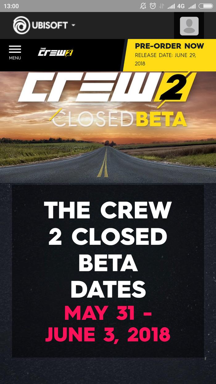 The Crew 2 - Closed Beta Code LootPack Closed beta, Uplay, Длиннопост