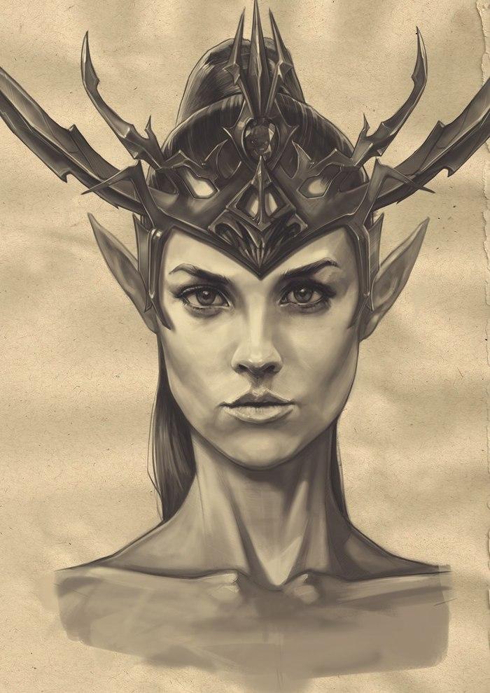 Работы akurepki2 по Warhammer: Fantasy Battles Warhammer fantasy battles, Druchii, Дворфы, Орки, Хаос, FB Art, Длиннопост