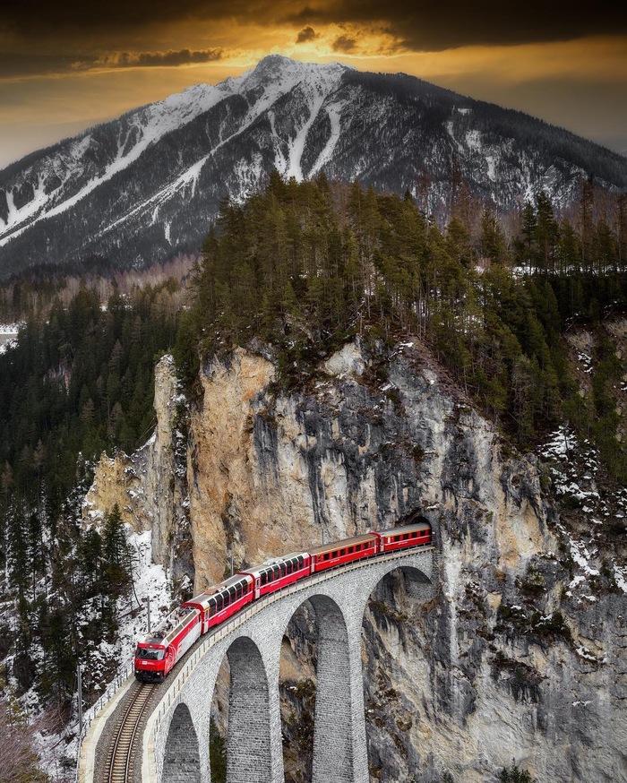 Виадук Ландвассер, Швейцария Фотография, Instagram, Discovery, Виадук, Youtube, Видео, Ландвассер, Швейцария