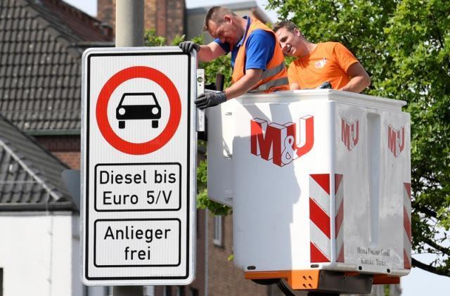 Процесс запрета дизеля пошел Дизель, Европа, Гамбург