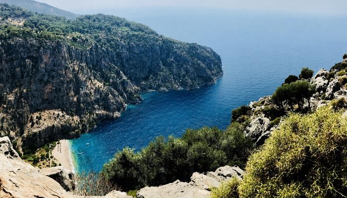 Долина бабочек Долина, Средиземное море, Природа, Турция