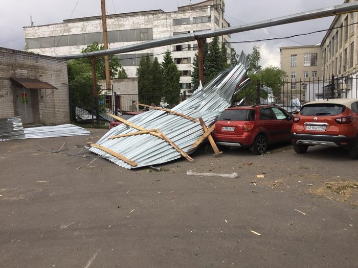 Нижний Новгород, шторм. Сорвало крышу с офисного здания :( Нижний Новгород, Шторм, Длиннопост, Фотография