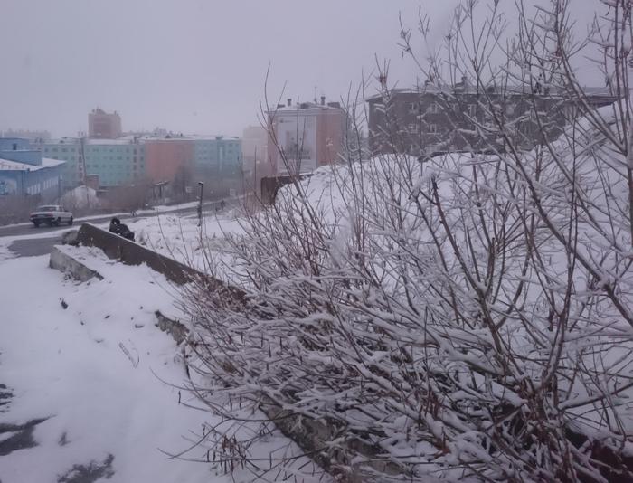 А завтра лето. Дудинка, Весна, Скоро лето, Красноярский край, Снег
