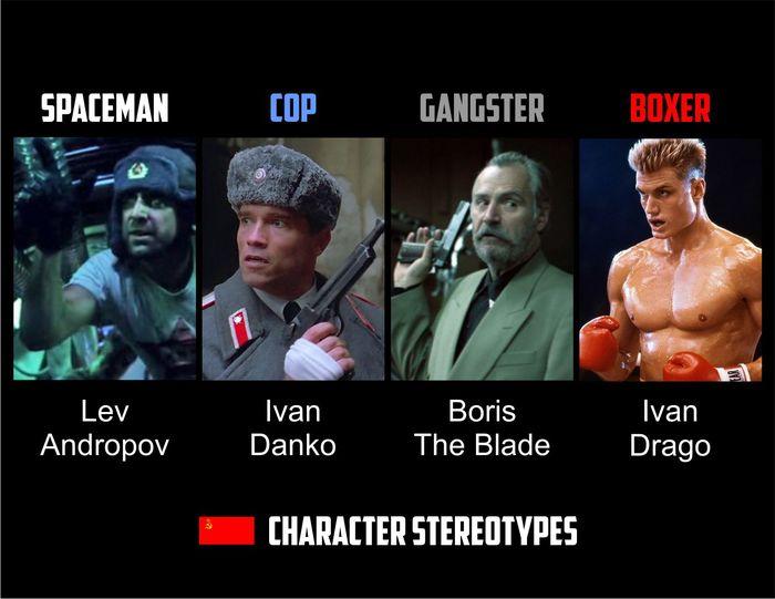 Канонические стереотипные герои, которых мы так любим.