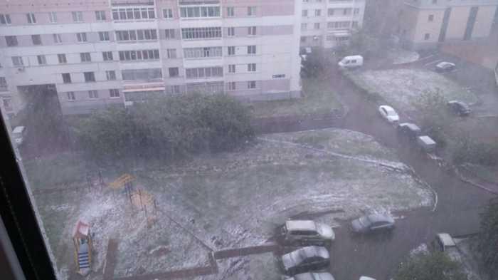 Вот такое хреновое лето.... Погода, Снег
