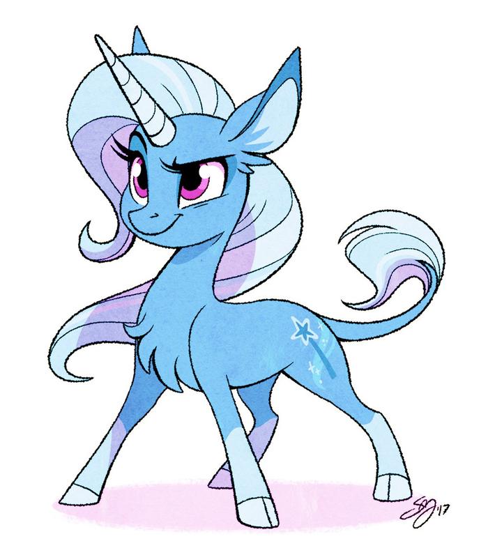 Трикси My little pony, Trixie, Ponyart, Probablyfakeblonde