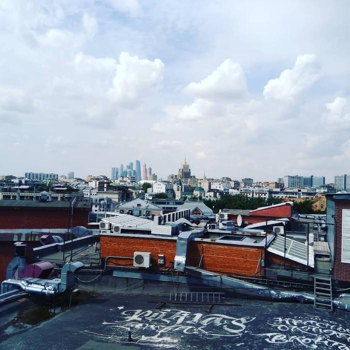 """Немного фото с крыши фабрики """"Красный Октябрь"""" Фото на тапок, Крыша, Любитель, Длиннопост"""
