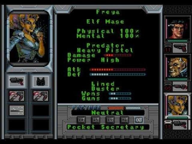 Игра диною в жизнь - Shadowrun (SEGA, 1994)