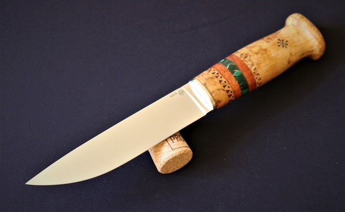 "Нож ""Онар"" Нож, Саам, Охотничий нож, Финский нож, Пуукко, Саамский нож, Лезвие, Длиннопост"