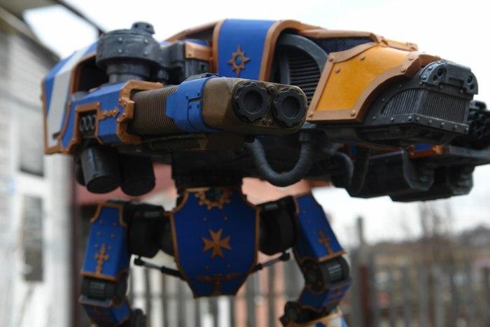 Бумажная гончая Warhammer 40k, Wh miniatures, Бумажный моделизм, Титан, Длиннопост
