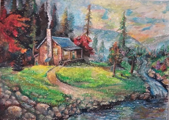 Рисунок пастелью.