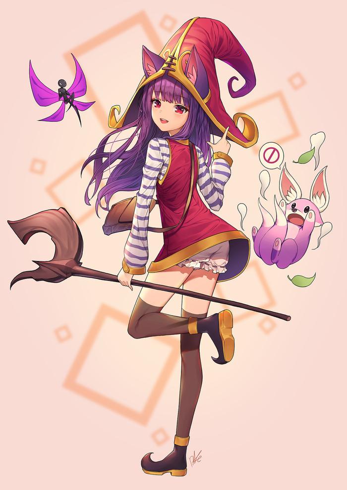 Anime art Не аниме, Аниме, Anime art, League of Legends, Lulu