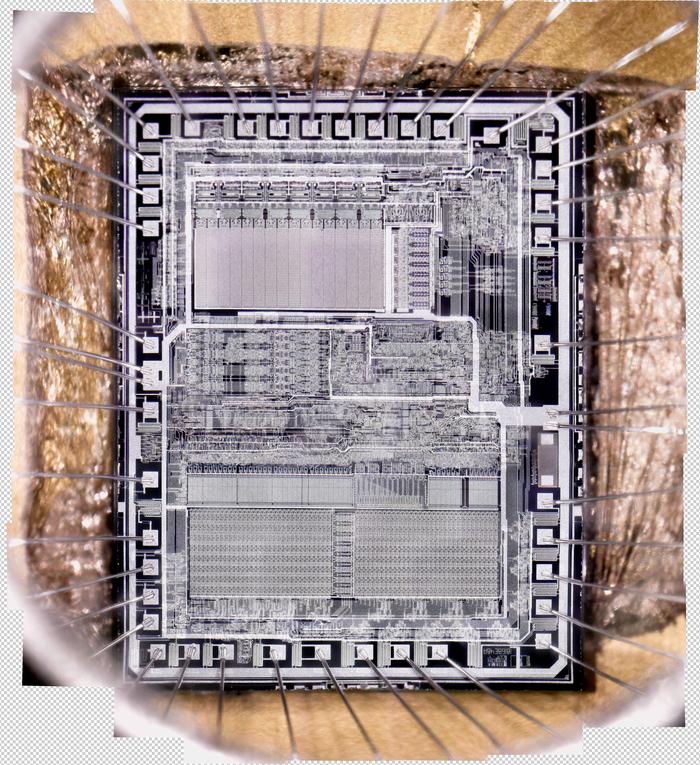 Кристалл контроллера КМ1816ВЕ48 (Кликабельно) Электроника, Микроконтроллеры, Склеил сам, Длиннопост