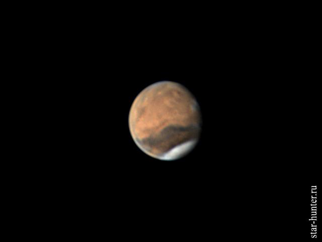 Марс, 6 июня 2018 года, 02:21 Марс, астрофото, планета, астрономия, космос, StarHunter, АнапаДвор