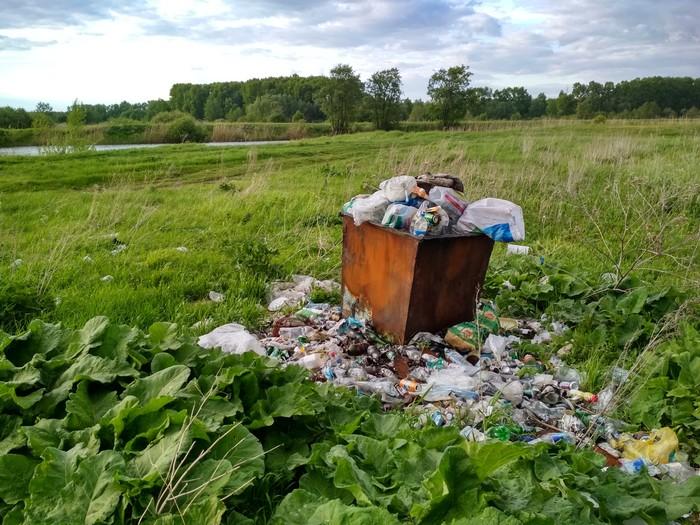 Если почувствуешь себя бесполезным, вспомни про этот контейнер на берегу озера чистомен, чистота, Уфа, мусор, экология