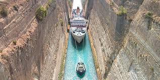 Коринфский канал Канал, Корабль, Достопримечательности