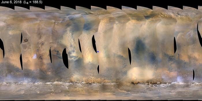 Марсоход Opportunity попал в сильную пылевую бурю Марс, Опортьюнити, Пылевая, Буря, Стихия, Солнце, Длиннопост