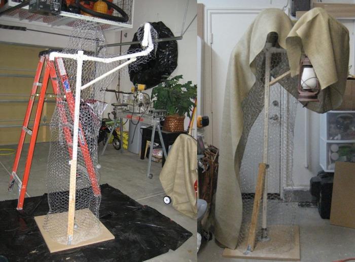 Пугало на дачу Пугало, Светильник, Фотография