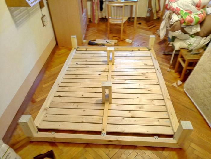 Двуспальная кровать своими руками Кровать, Diy motherfucker diy, Столярная мастерская, Длиннопост