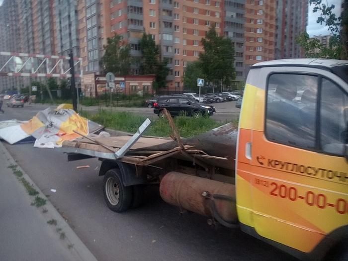 Газель не пройдет! ДТП, Кудрово, Длиннопост, Газель, Санкт-Петербург
