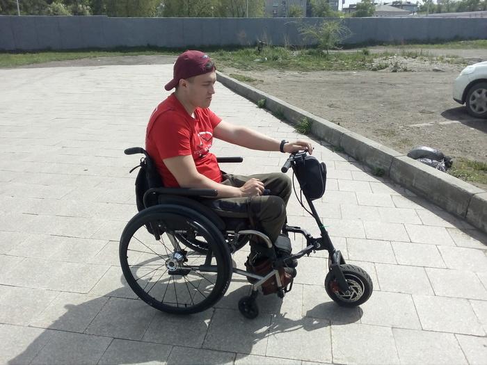 Электроприставка для инвалидной коляски Инвалиды-Колясочники, Инвалидная коляска, Инвалид, Элекроприставка, Своими руками, Электротранспорт, Самоделки, Видео, Длиннопост